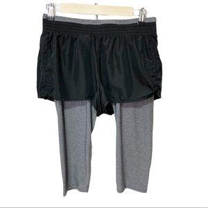 Rbx shorts w/tights underneath Sz M.